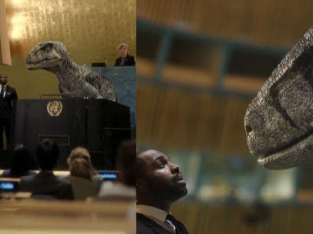 """'Dinosaurio' irrumpe en la ONU para advertir a la humanidad: """"no elijan la extinción"""""""