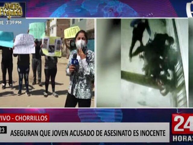 Chorrillos: familiares aseguran que joven acusado de asesinato es inocente