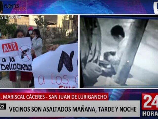 SJL: vecinos de la urbanización Mariscal Cáceres denuncian robos a toda hora
