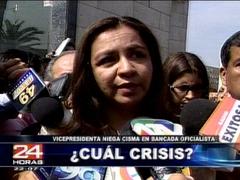 Marisol Espinoza niega renuncias en Gana Perú y pide acabar con especulaciones