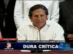 Toledo afirma que Antauro Humala quiere herir de muerte a la democracia