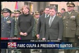 Terroristas de las FARC culparon al presidente Juan Manuel Santos por la muerte de rehenes